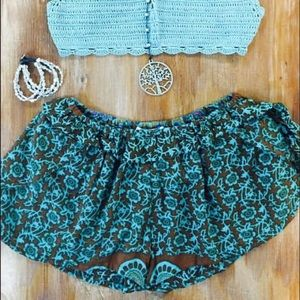 Pants - Boho Shorts with side tie